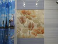 Ванная с плиткой в виде цветка