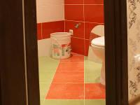 Вид из коридора на ванную комнату
